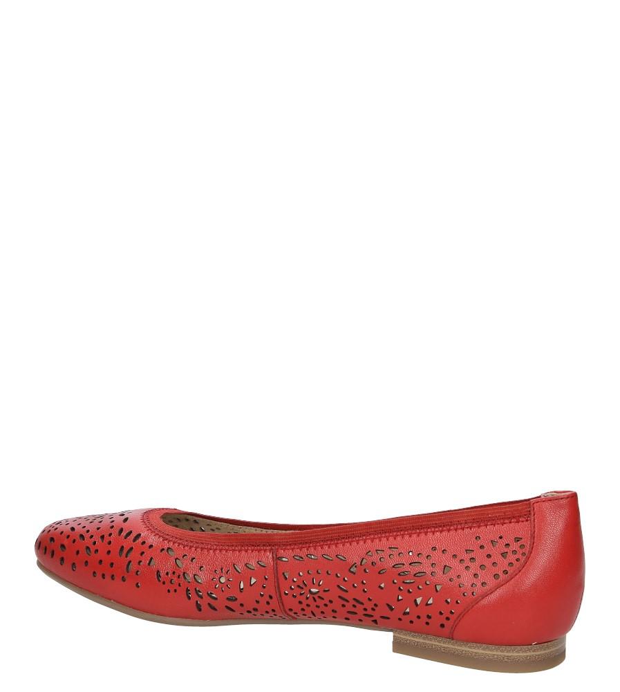 BALERINY CAPRICE 9-22104-28 kolor czerwony