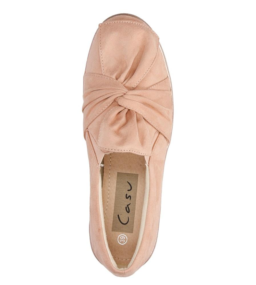 Damskie SLIP ON CASU T260 różowy;;