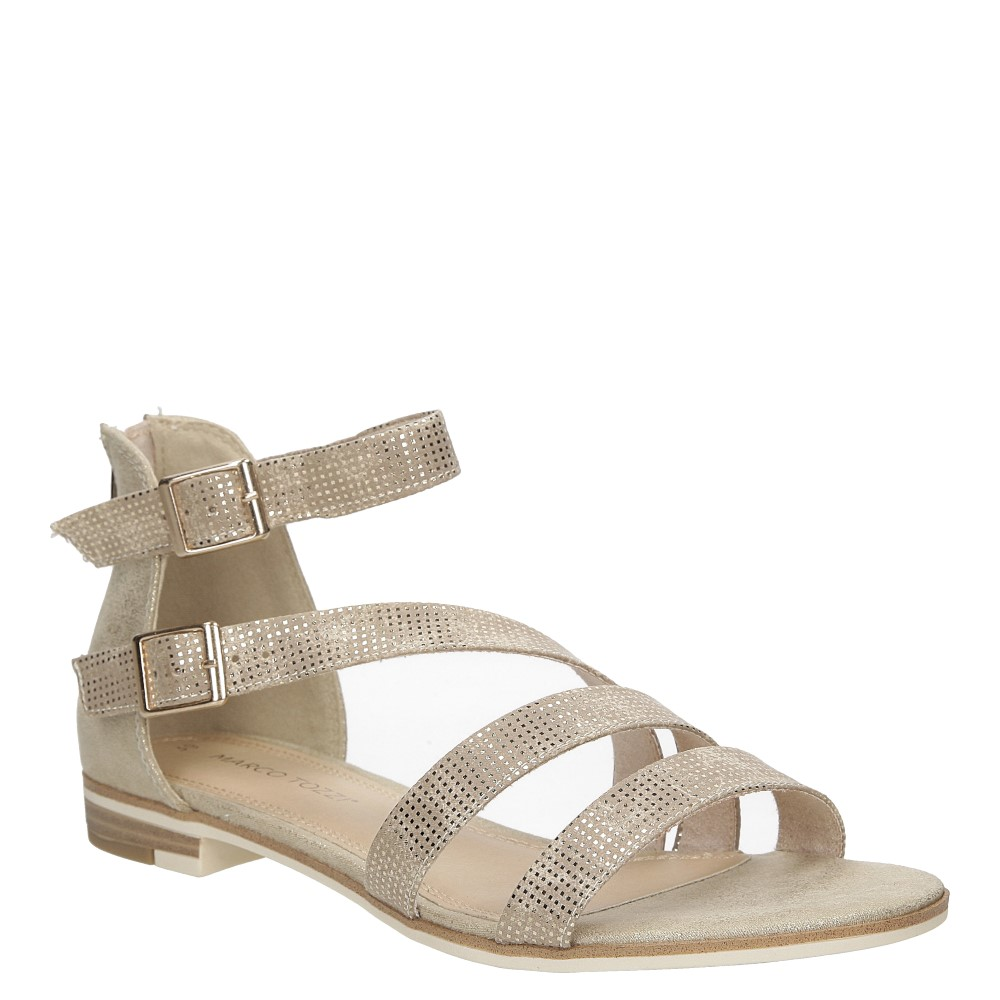 Sandały z ozdobnym zamkiem Marco Tozzi 2-28104-28