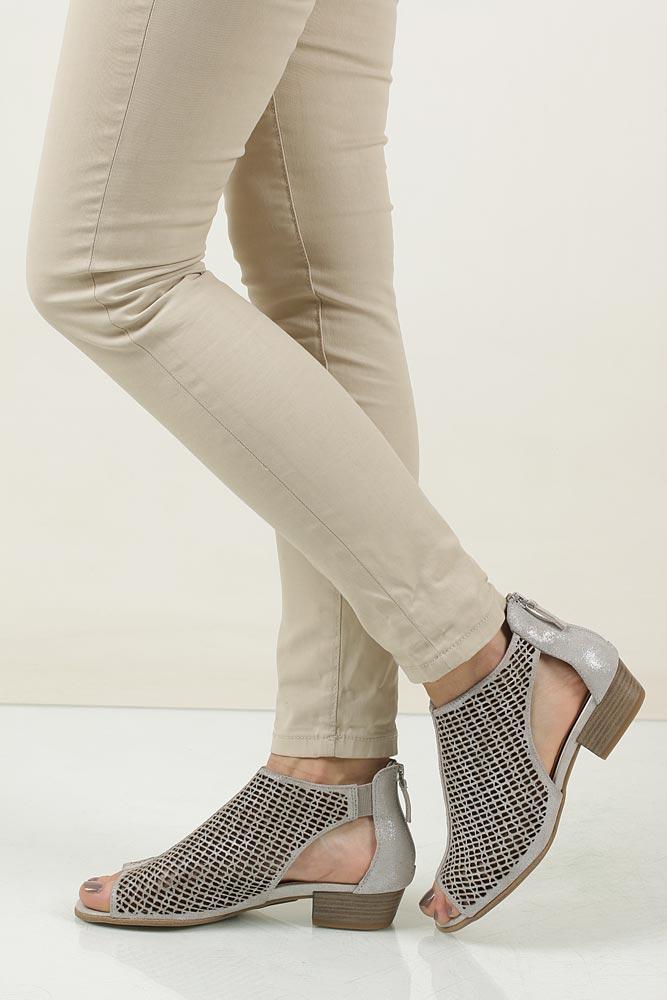 Sandały skórzane ażurowe Tamaris TAMARIS 1-28140-28
