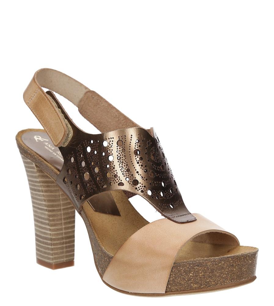 Sandały skórzane ażurowe Ana Roman 17344