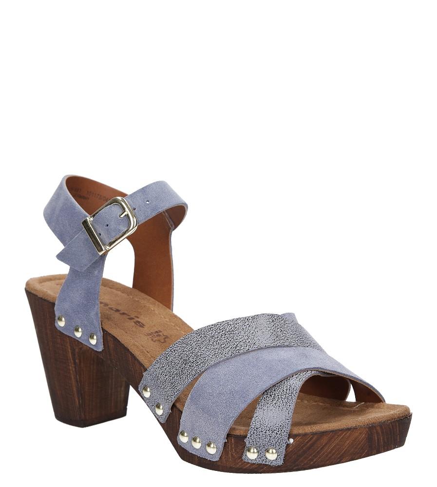 Sandały niebieskie skórzane Tamaris 1-28356-28