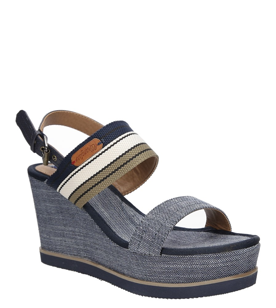 Damskie Sandały na koturnie Wrangler Jeena Sunshine WL171660 niebieski;;