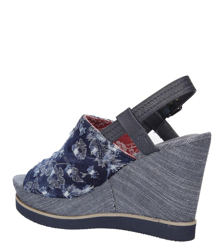 Sandały Wrangler Kelly Indigo WL171683 wkladka materiał