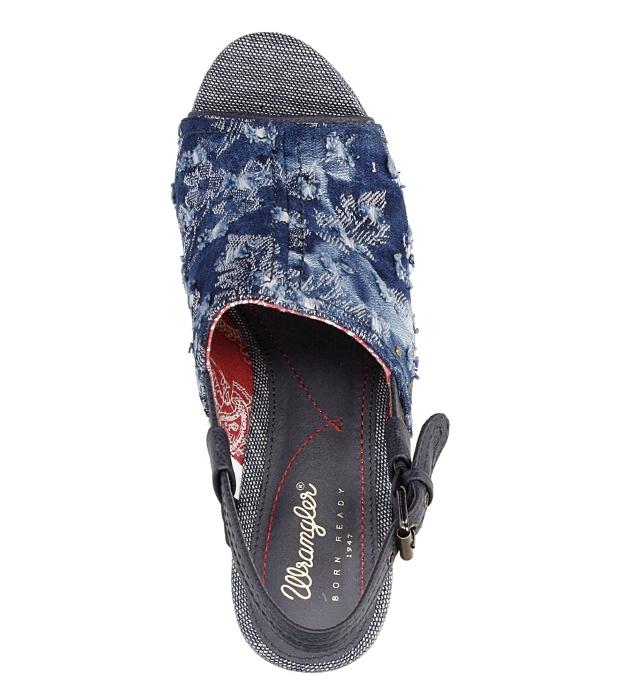 Sandały Wrangler Kelly Indigo WL171683 wysokosc_platformy 3.5 cm