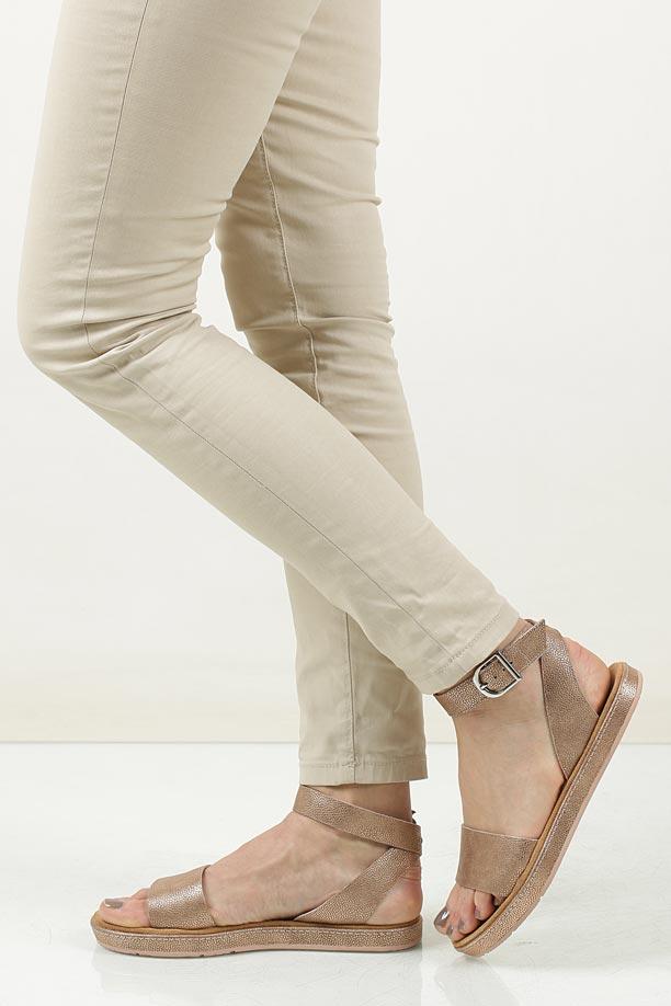 Sandały złote skórzane Clarks Romantic Moon 2612414