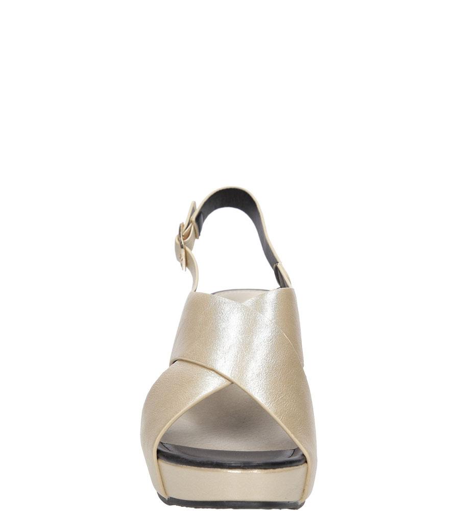 Sandały na koturnie Casu LS06709P kolor złoty