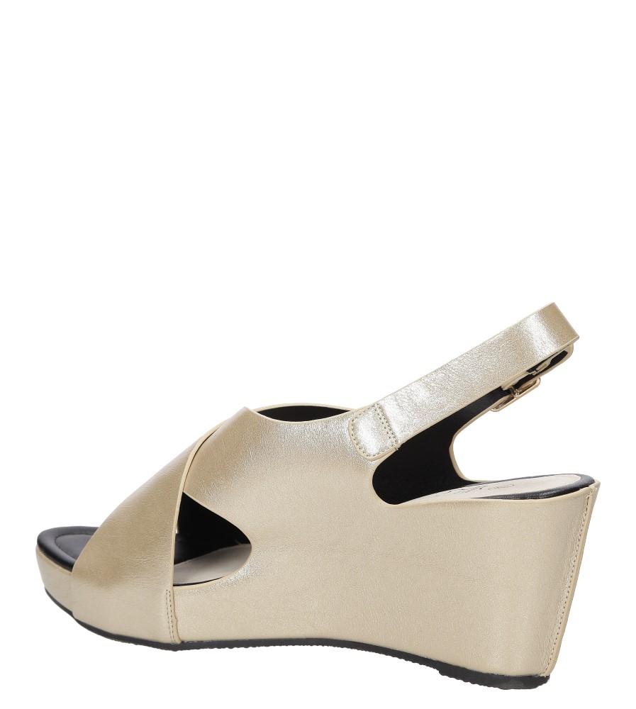 Sandały na koturnie Casu LS06709P wysokosc_obcasa 8 cm