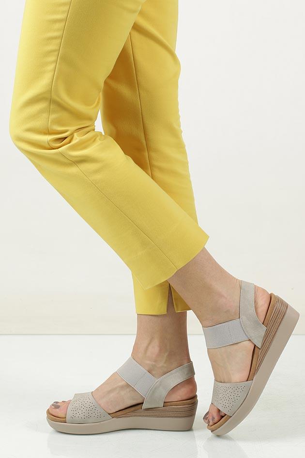 Sandały ażurowe na koturnie Casu LS06727P