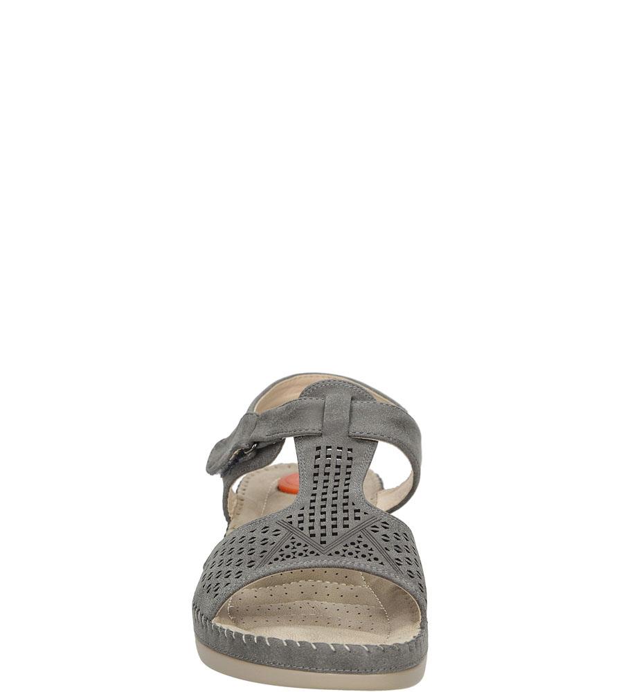 Sandały na koturnie Casu LS06711P kolor szary