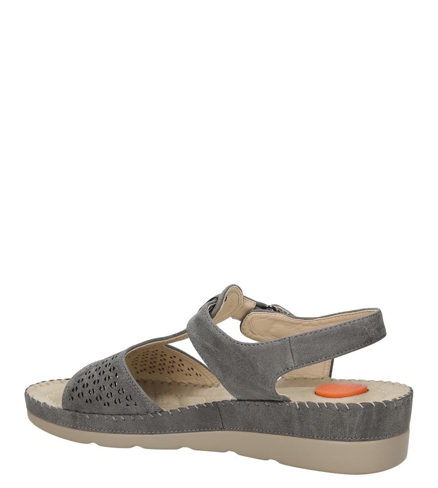 Sandały na koturnie Casu LS06711P wysokosc_obcasa 4 cm