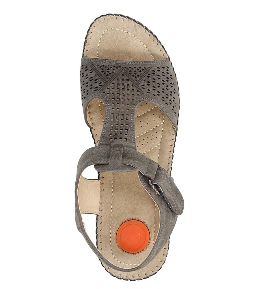 Sandały na koturnie Casu LS06711P wysokosc_platformy 1.5 cm