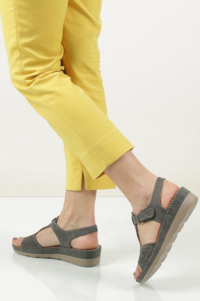 Sandały na koturnie Casu LS06711P wkladka skóra ekologiczna