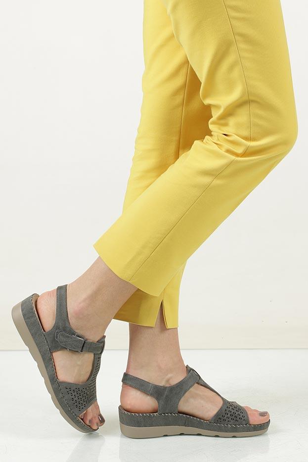 Sandały na koturnie Casu LS06711P material_obcasa wysokogatunkowe tworzywo