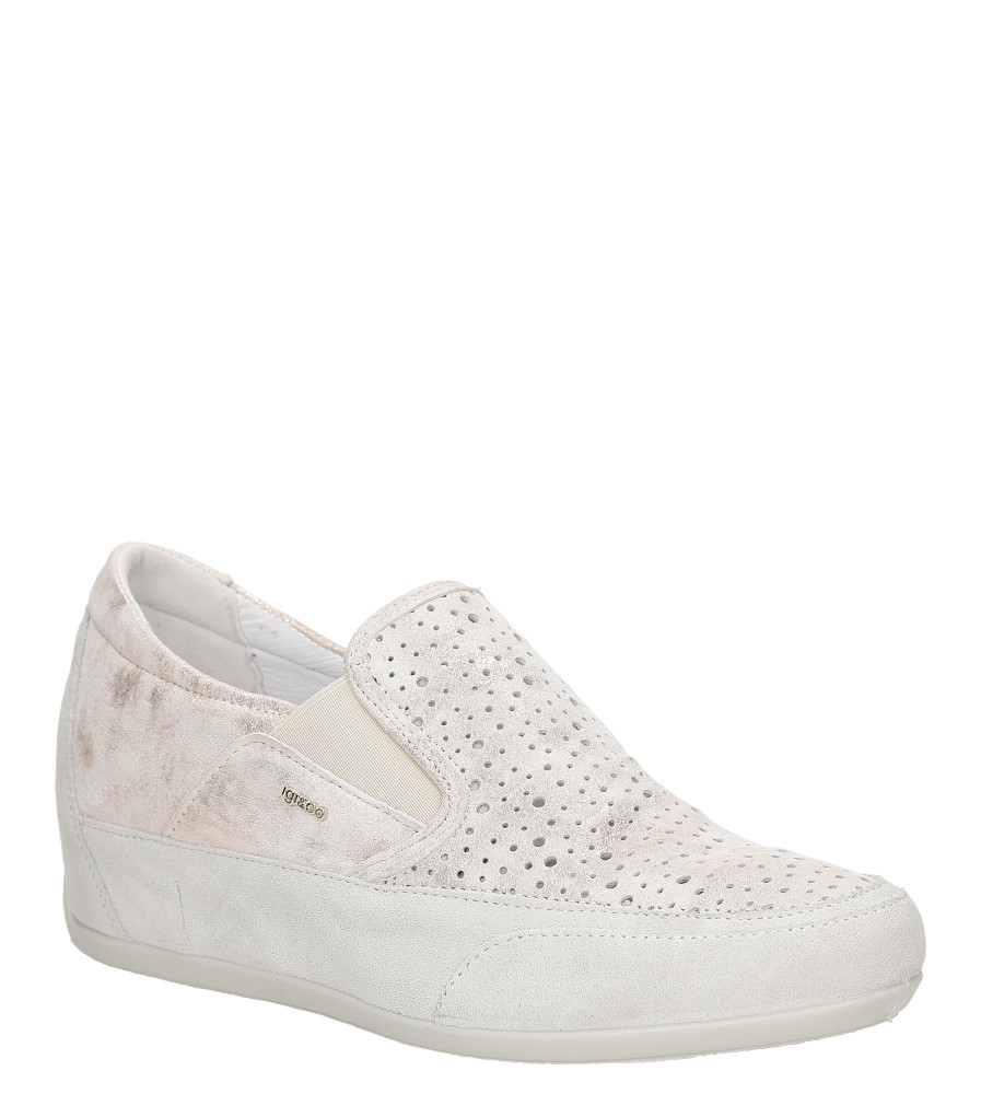 Sneakersy skórzane Igi&Co 77401 jasny różowy