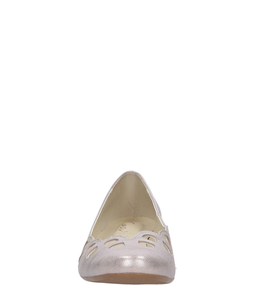Baleriny ażurowe Casu 285 wys_calkowita_buta 7.5 cm