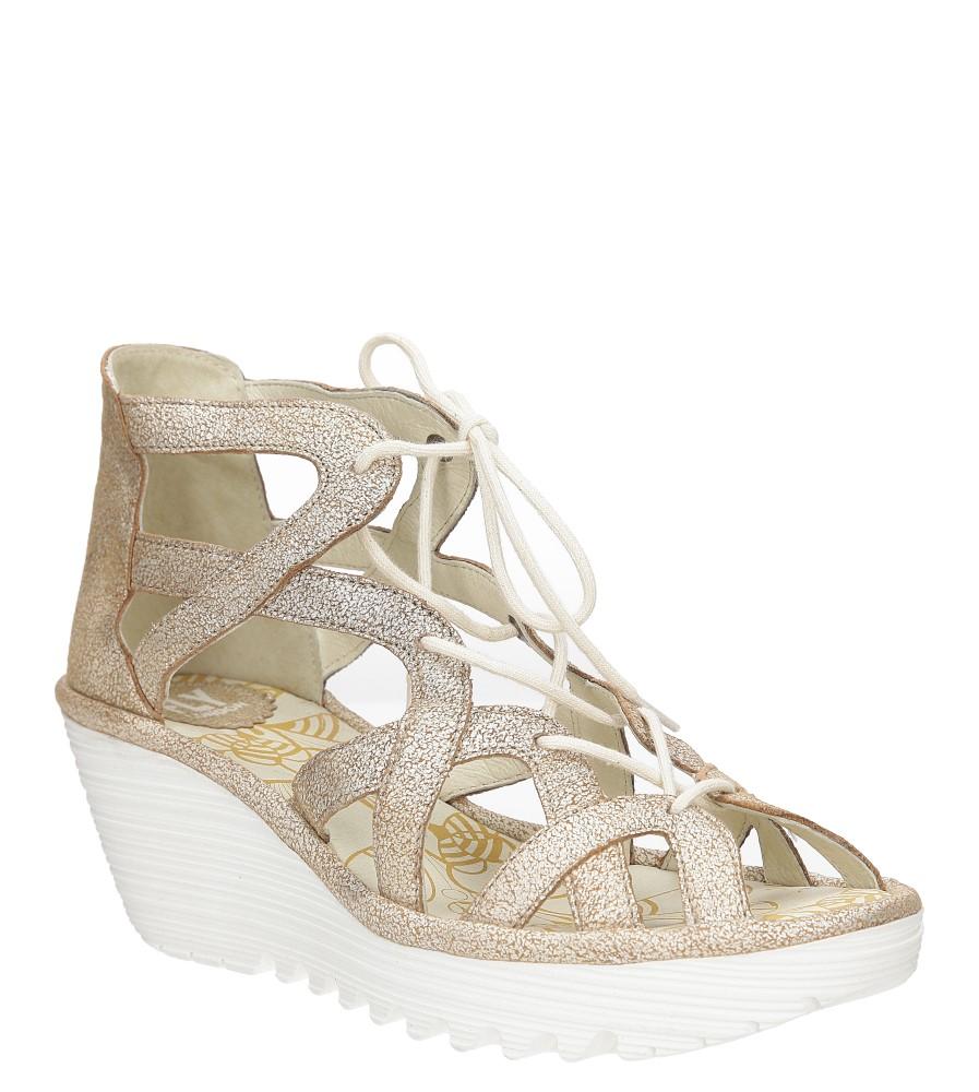 Sandały skórzane na koturnie Fly London P500719009