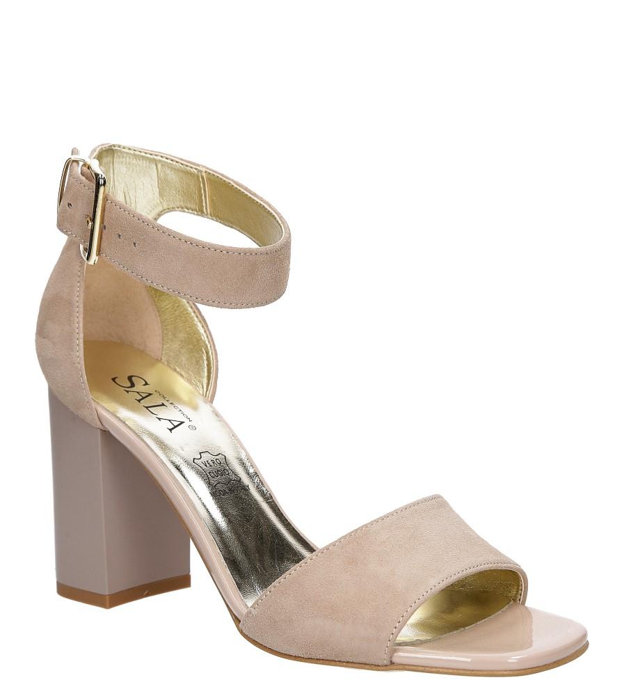 Sandały zamszowe na słupku Sala 5034