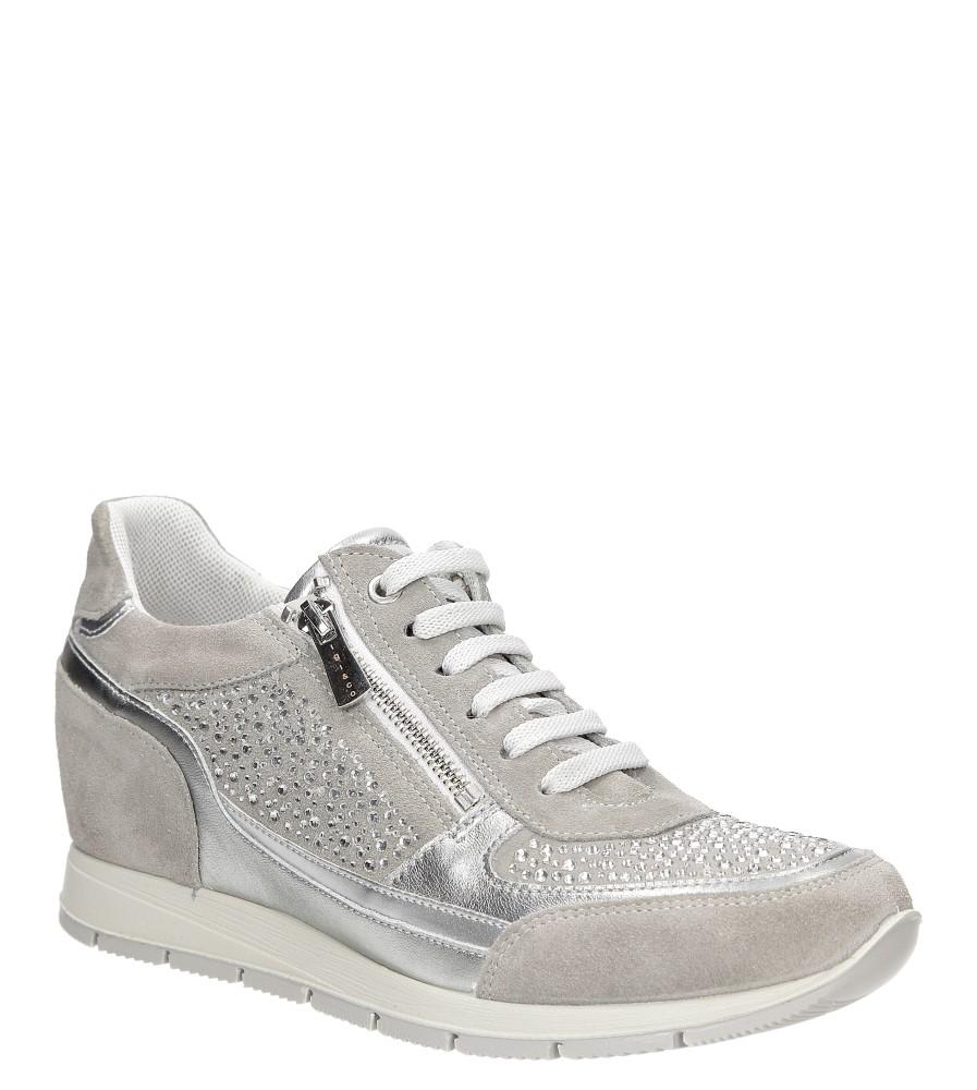 Sneakersy skórzane z ozdobnym suwakiem Igi&Co 77800