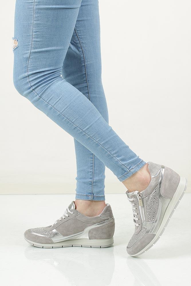 Sneakersy skórzane z suwakiem ozdobnym Igi&Co 77800