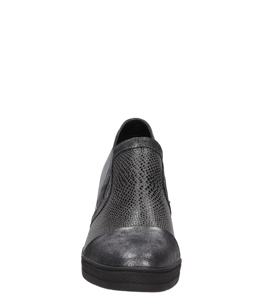 Sneakersy na koturnie S.Barski L05717P wierzch skóra ekologiczna