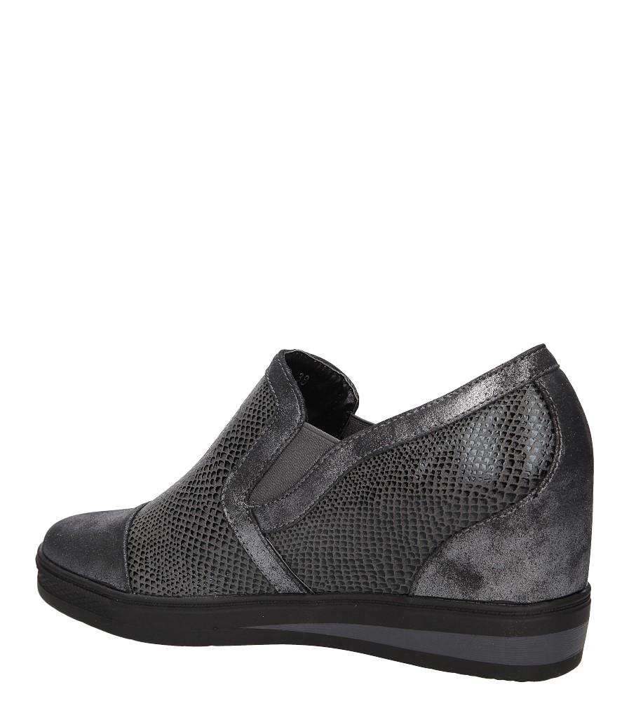Sneakersy na koturnie S.Barski L05717P wkladka skóra