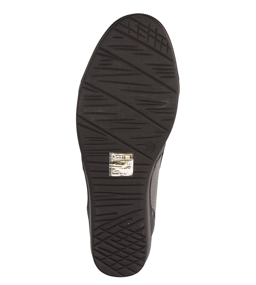 Sneakersy na koturnie S.Barski L05717P ksztalt_obcasa ukryty koturn