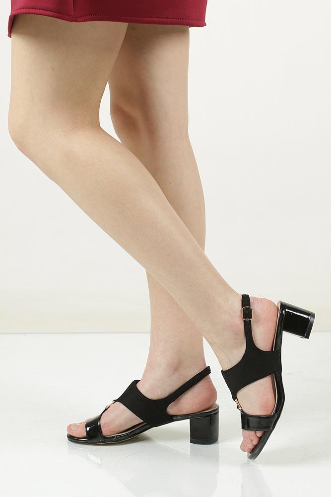 Sandały na słupku Casu LS51706P