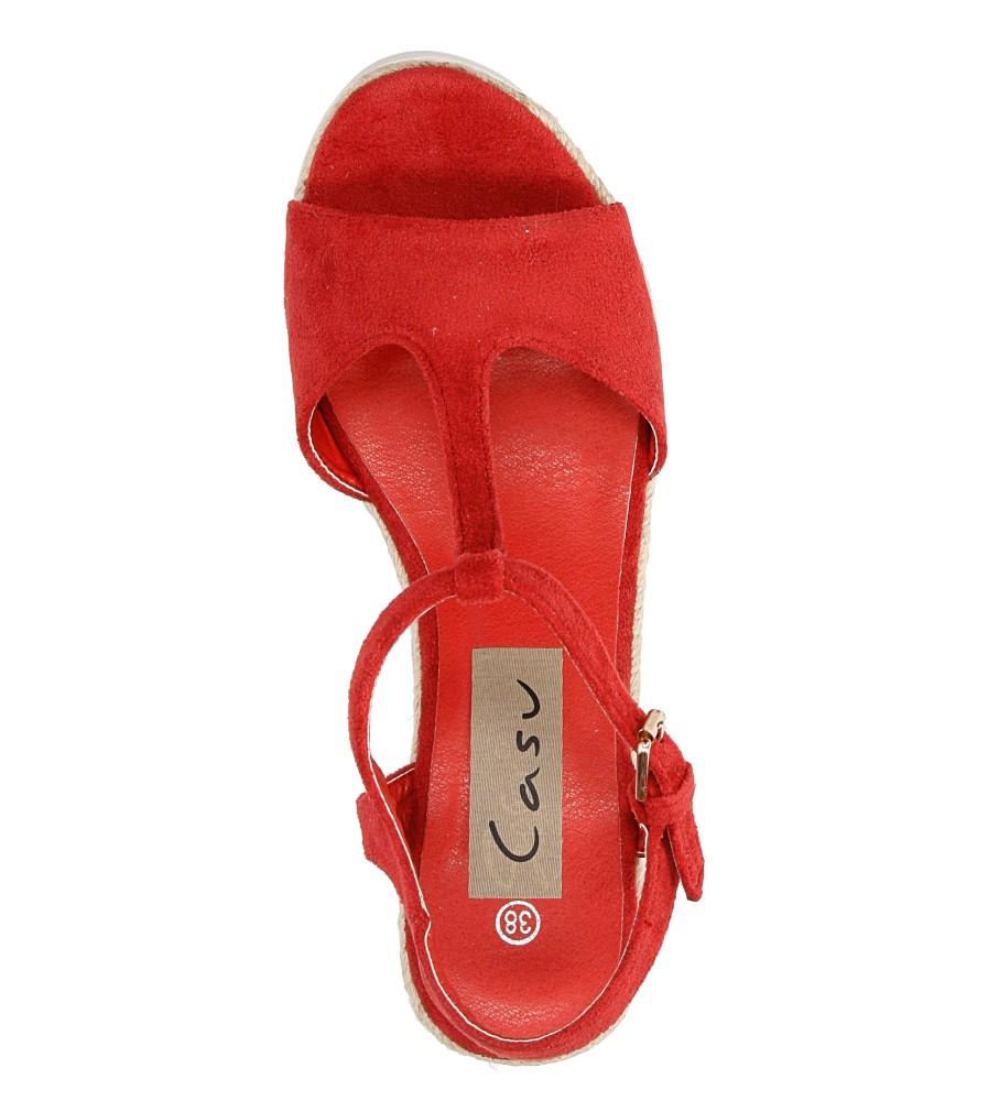 Sandały na koturnie Casu LS55710P material_obcasa sznurkowe tworzywo