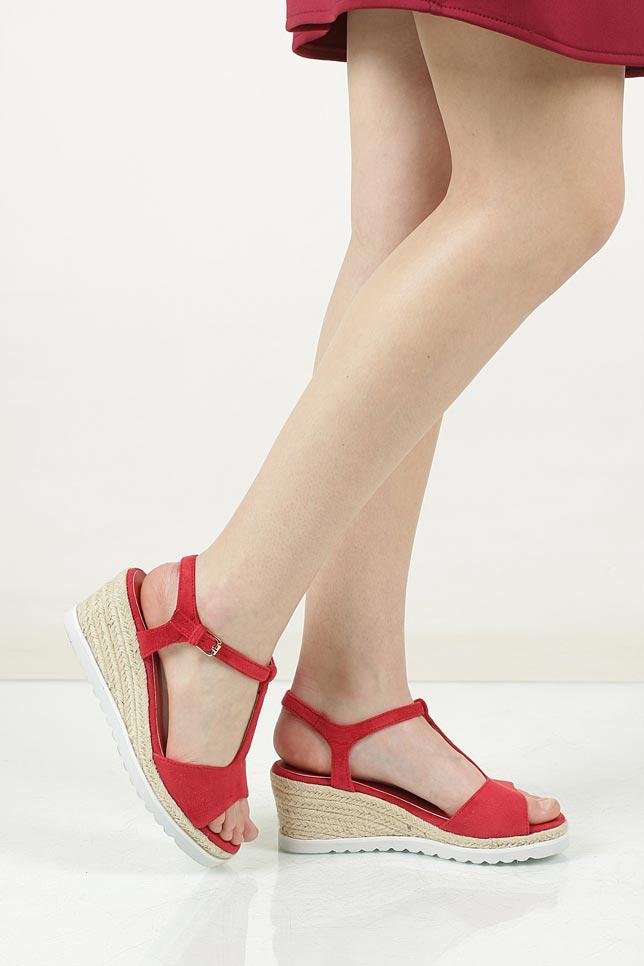 Sandały na koturnie Casu LS55710P wysokosc_platformy 2.5 cm