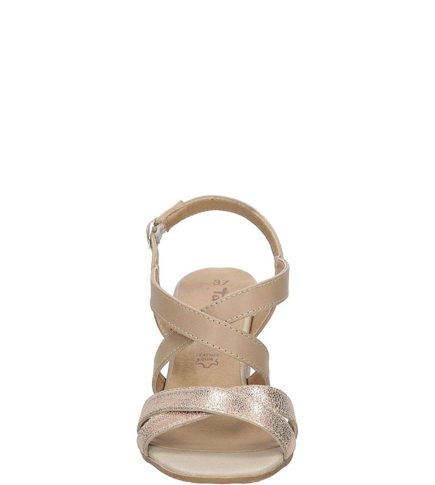 Sandały skórzane na słupku Tamaris 1-28011-38 wierzch skóra naturalna - licowa