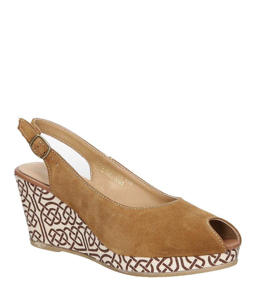 Sandały zamszowe na koturnie Tamaris 1-29303-28