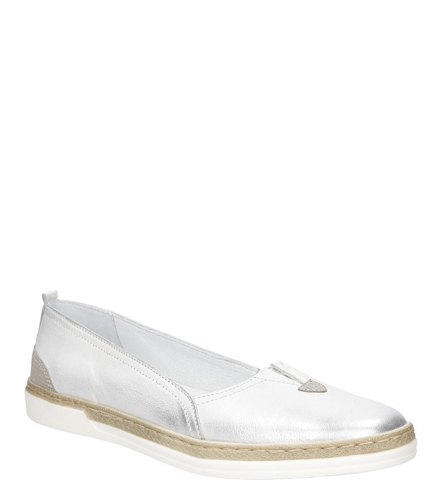 Damskie Slip on Gino Fabiani 1273 biały;srebrny;