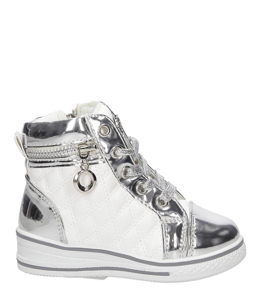 Sneakersy z ozdobnym zamkiem Casu R12D-7P