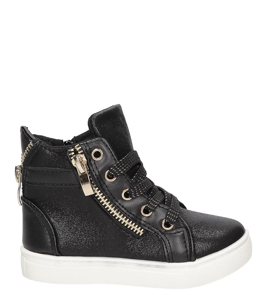 Sneakersy z ozdobnym zamkiem Casu DD403 kolor czarny