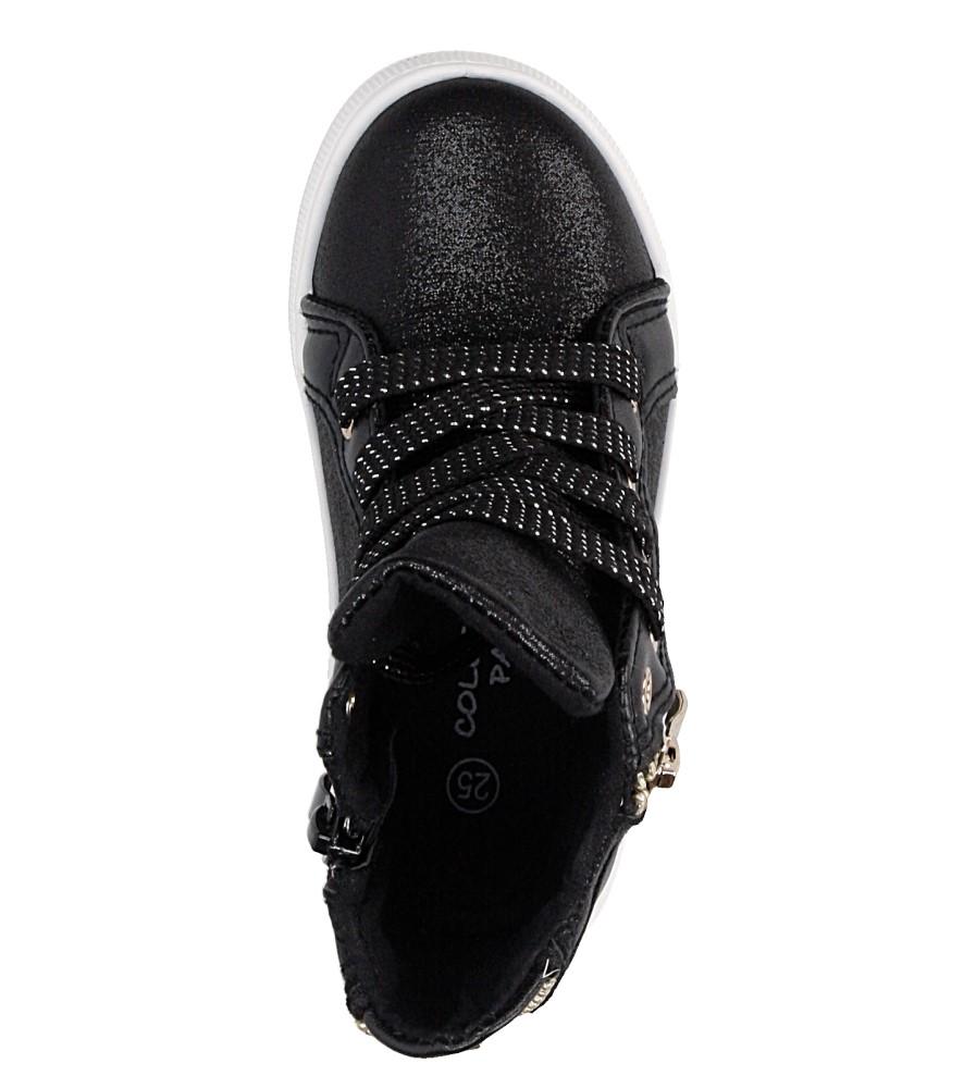 Sneakersy z ozdobnym zamkiem Casu DD403 material_obcasa wysokogatunkowe tworzywo