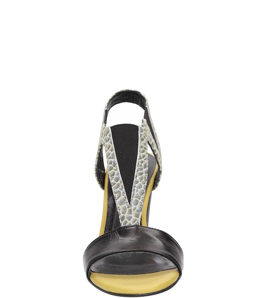 Sandały skórzane Karino 1978 kolor czarny, żółty