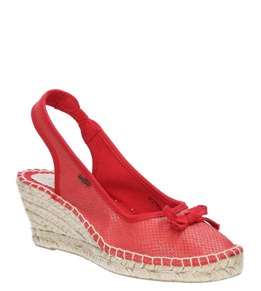 Damskie Sandały z kokardą Big Star W2745 czerwony;;