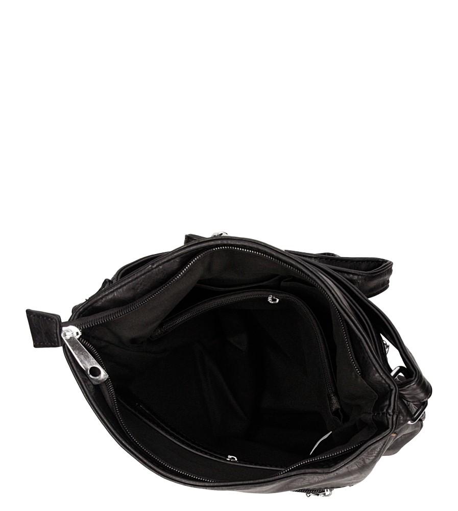 Torebka listonoszka pikowana Casu MJ69 kolor czarny