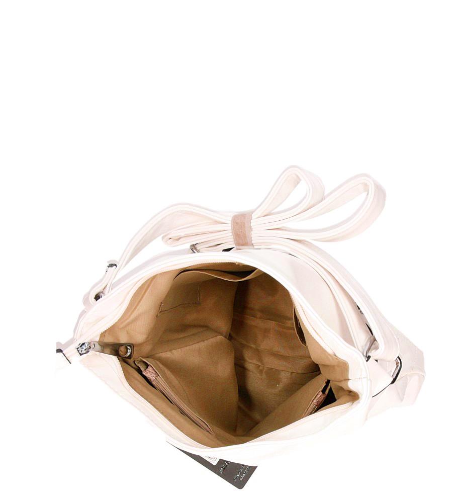 Torebka listonoszka pikowana Casu MJ69 kolor jasny beżowy