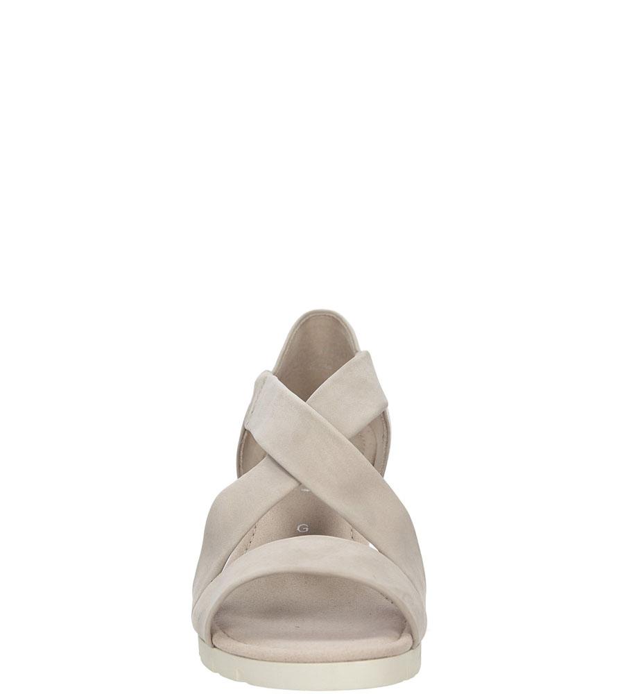 Sandały z nubuku Gabor 62.853 kolor beżowy