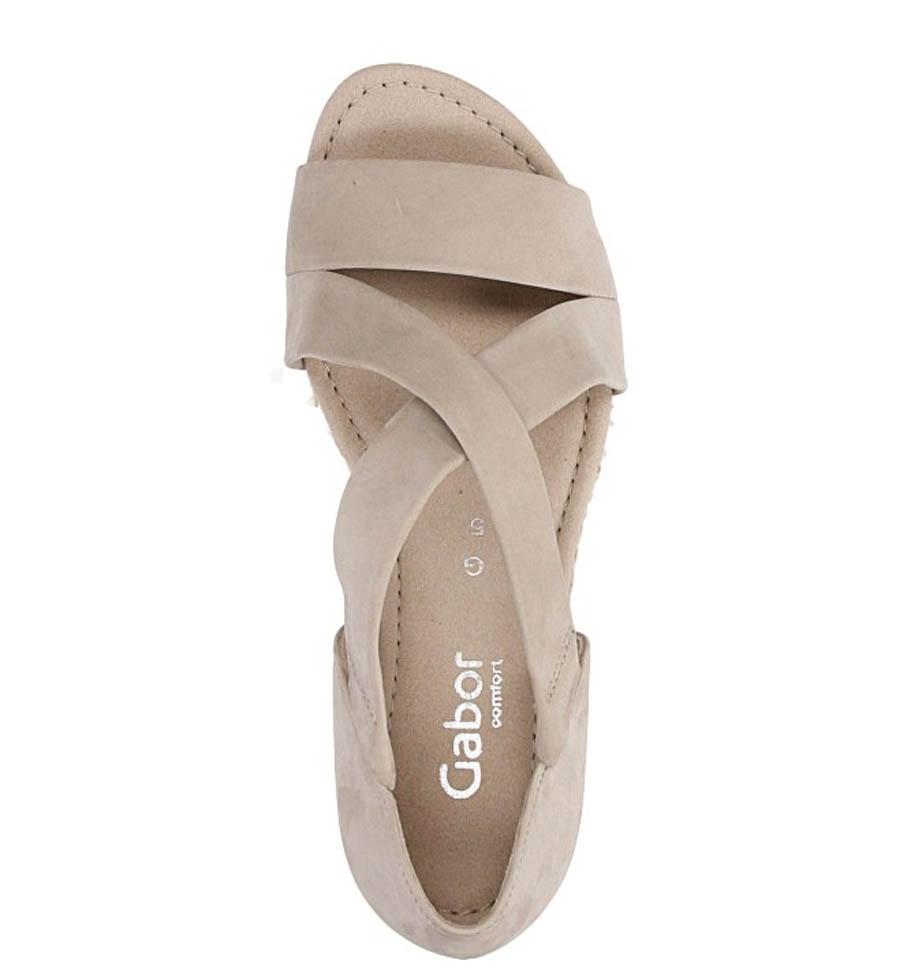 Sandały z nubuku Gabor 62.853 wysokosc_platformy 1 cm