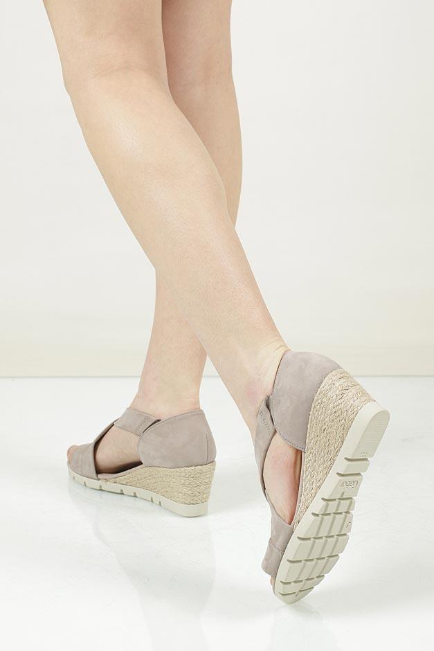 Sandały z nubuku Gabor 62.853 wnetrze materiał