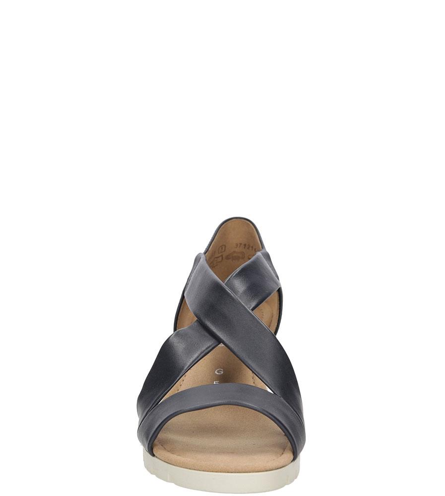 Sandały skórzane Gabor 62.853 kolor czarny