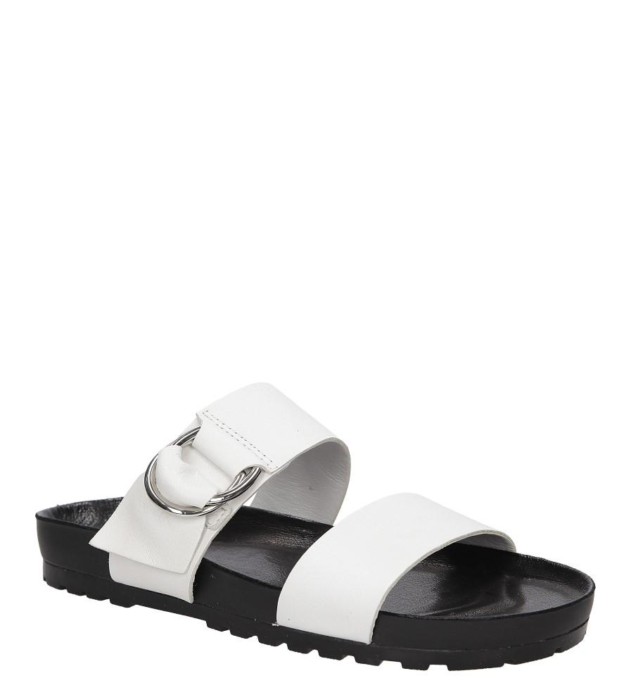 Damskie Klapki skórzane Vagabond 4332-001 biały;czarny;