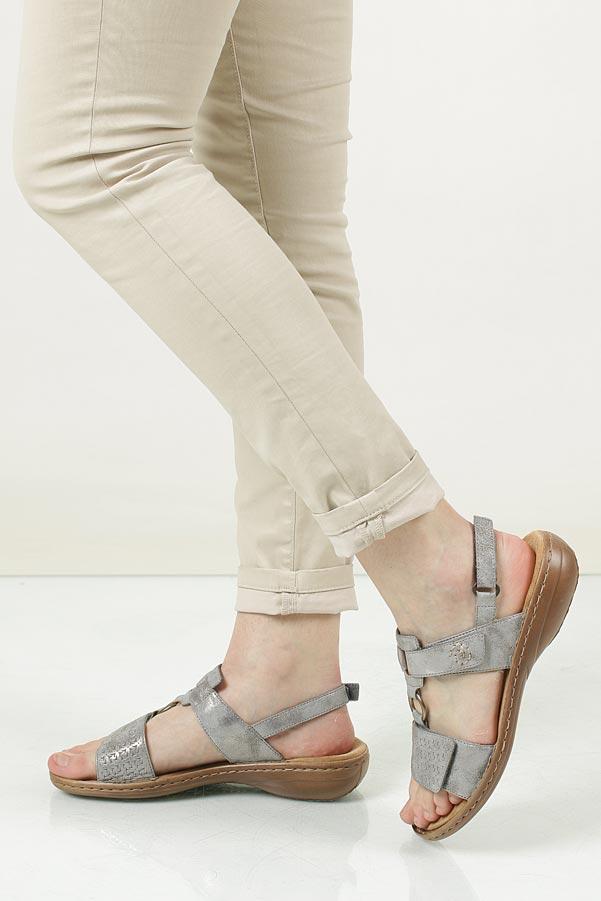 Sandały Rieker 60887-40 srebrny