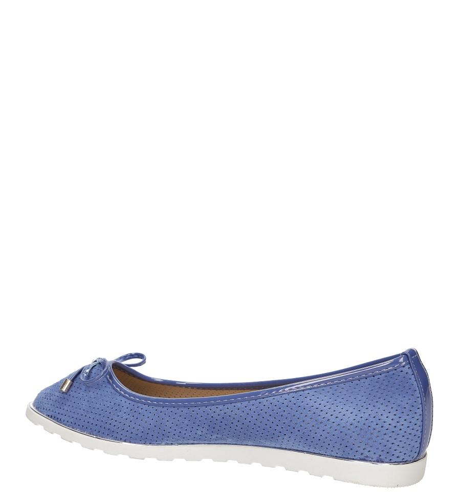 Baleriny ażurowe Casu CH-08071 kolor niebieski