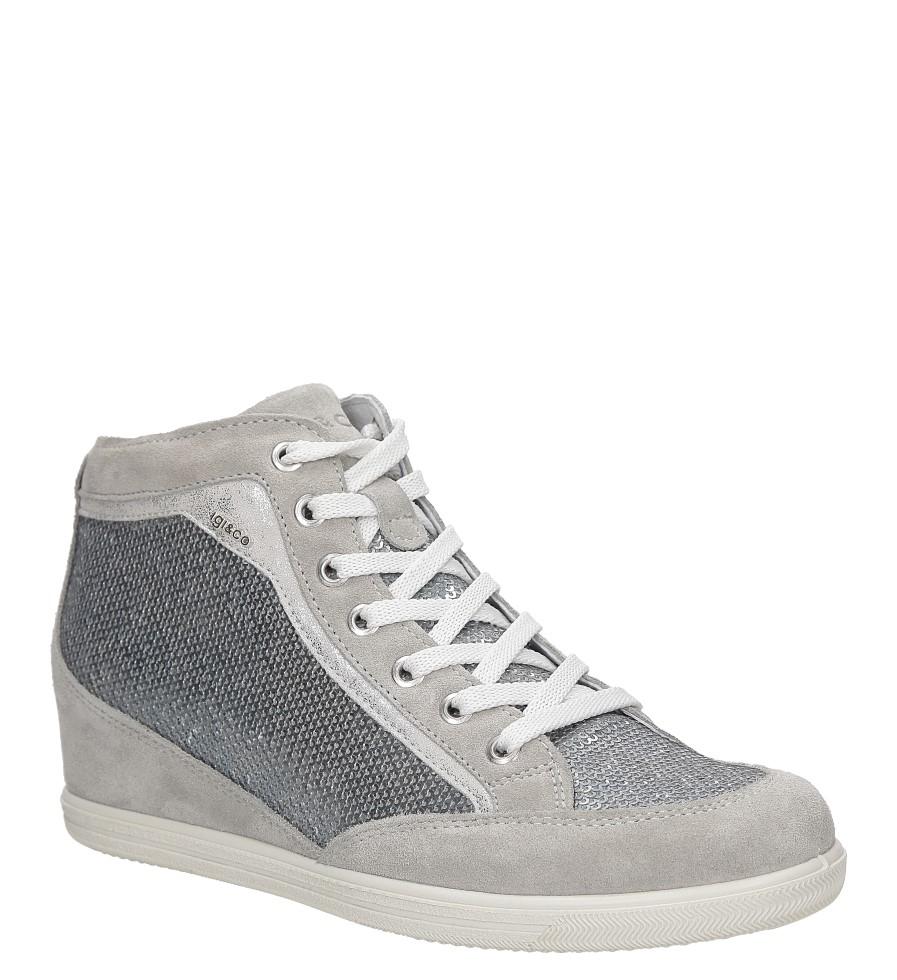 Damskie Sneakersy zamszowe na koturnie Igi&Co 7782 szary;;