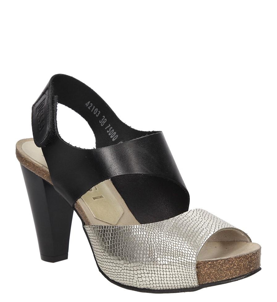 Sandały skórzane na słupku 42103