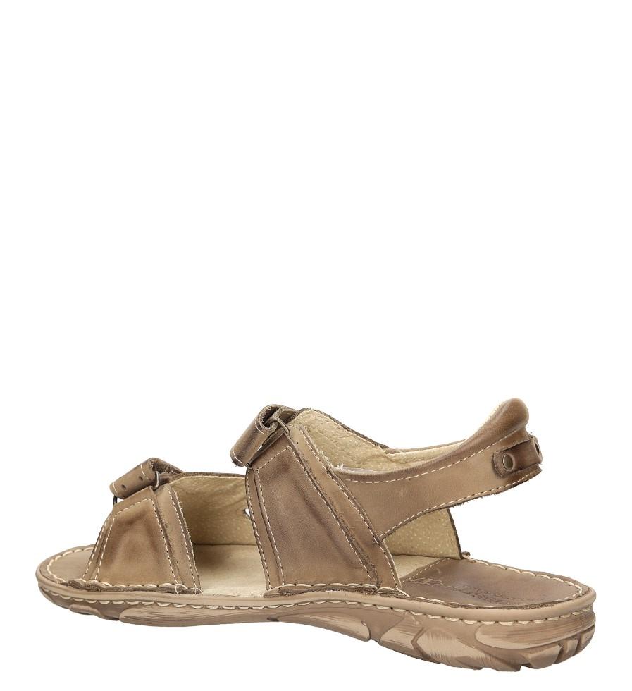 Sandały skórzane Windssor 028 kolor beżowy
